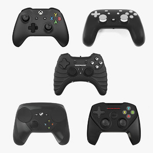 gaming controllers 2 3D model