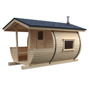 outdoor barrel sauna 3D model