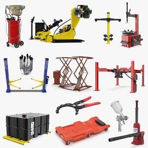 3D garage equipment 6 model