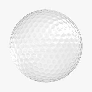 realistic golf ball 3D model
