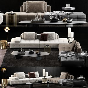 minotti lawrence clan sofa 3D model