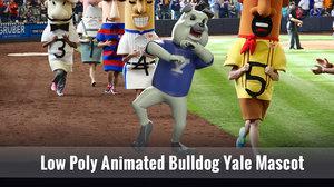 handsome bulldog yale mascot 3D model