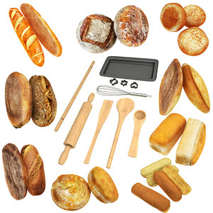 3D baking breads tools