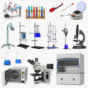 3D lab equipment 8 model