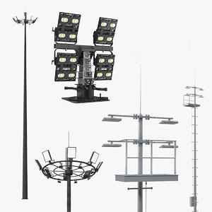 lighting masts 3D