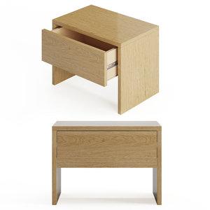 kyoto bedside drawer table model