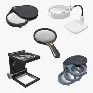 3D magnifiers lens folding