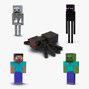 minecraft characters 2 3D model