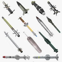 Millitary Missiles and Rockets Collection 4