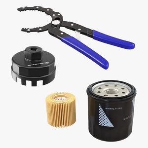 3D oil filter tools model