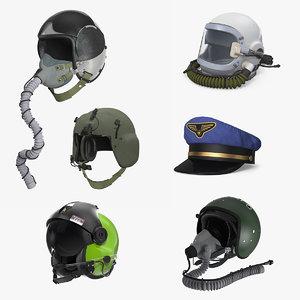 pilot hats 3 3D model