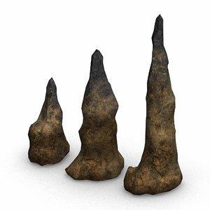 set stalagmites - 3D model