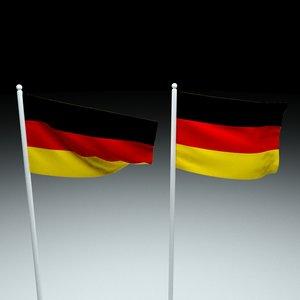 flag germany 3D model