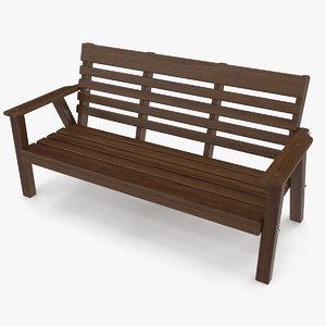 3D bench dark model