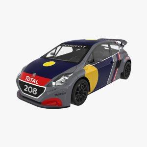 3D peugeot 208 wrx model