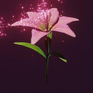 lily flower model