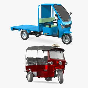 3D rigged rickshaws