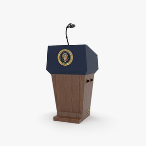 3D usa presidential podium model