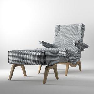 armchair pouf 3D