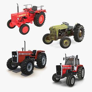 3D rigged vintage tractors 2