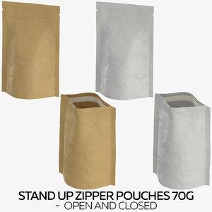 3D stand zipper pouches 70g