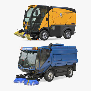 road sweepers collecting 3D model