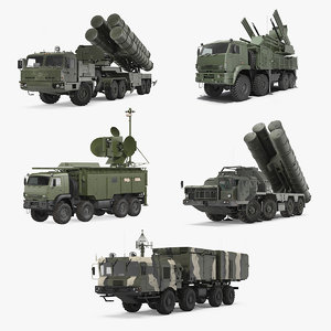russian missile systems rigged 3D model
