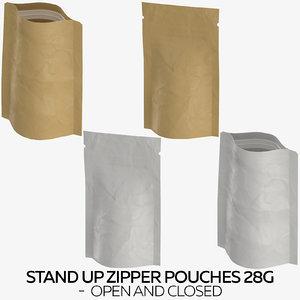stand zipper pouches 28g 3D model