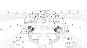 3D cockpit jet car model
