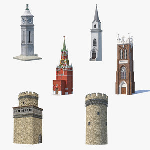 towers 4 3D model