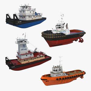 3D tug boats 3 model