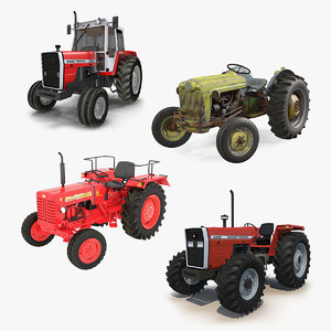 3D vintage tractors 2 model