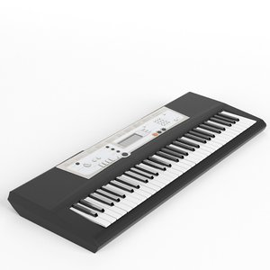 3d electronic piano keyboard synthesizer model