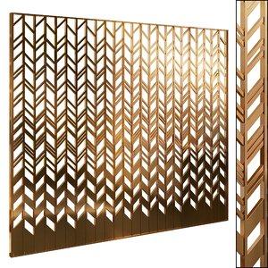 decorative partition set 68 3D model