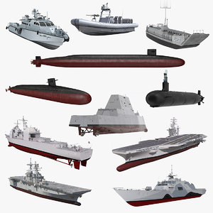 warships 5 ship 3D model
