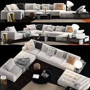 minotti lawrence sofa model