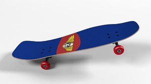 3D skateboard old underhill model