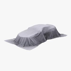 3D car covered cloth aaa