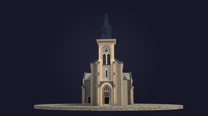 real-scale church 3D model