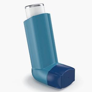 asthma inhaler 3D model