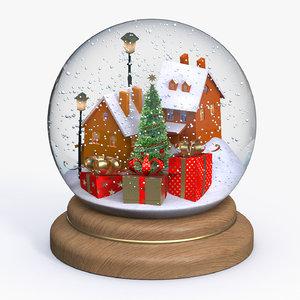 3D snow globe