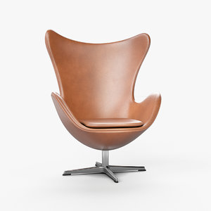 3D egg chair arne jacobsen model
