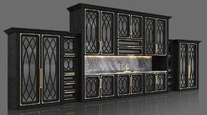 cabinet kitchen classic 3D model