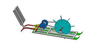 3D rice transplanter agricultural model