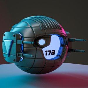 scifi drone 3D model