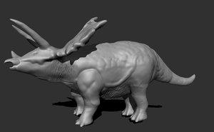 triceratops dinosaur 3D