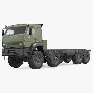 3D kamaz 6350 8x8 military truck