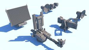 radar set 3D model