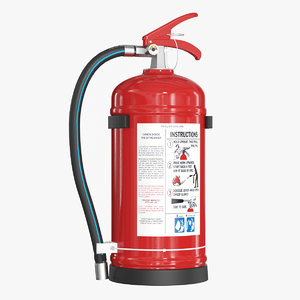 3D realistic extinguisher