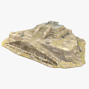 mayan building structure ruin 3D model